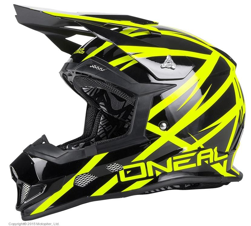 Шлем кроссовый 2Series Helmet Thunderstruck черно-желтый неоновый