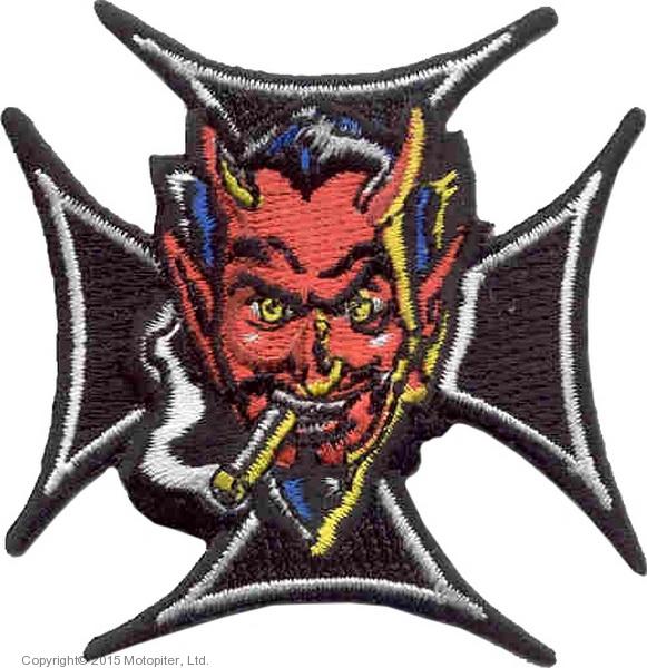 Нашивка Дьявол в кресте