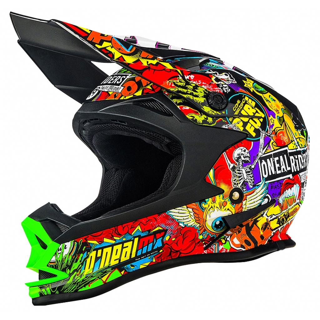 Кроссовый шлем 7Series CRANK чёрный/цветной