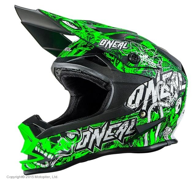 Кроссовый шлем 7Series Evo MENACE зеленый неон