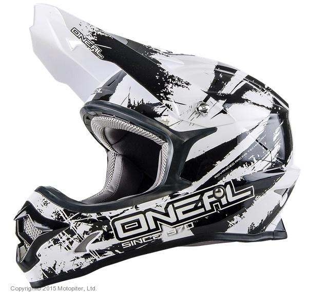 Кроссовый шлем 3Series SHOCKER чёрно-белый