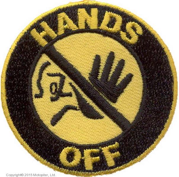 Нашивка Hands off