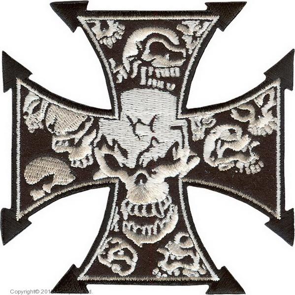Нашивка Cross with skulls - Крест с черепами
