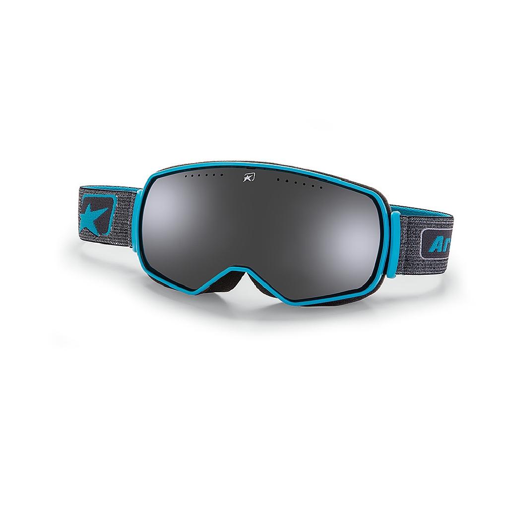 Маска снегоходная Ariete Panorama, синий, зеркальные линзы