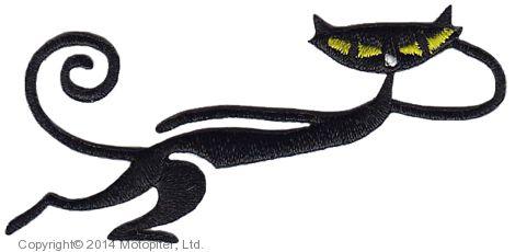 бегущая кошка с термоклеем.