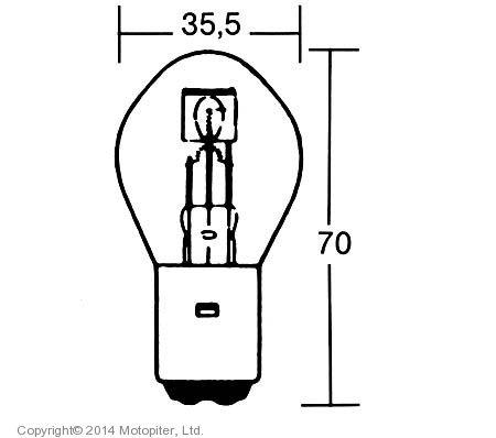 Лампа 12V 35/35W BA20D