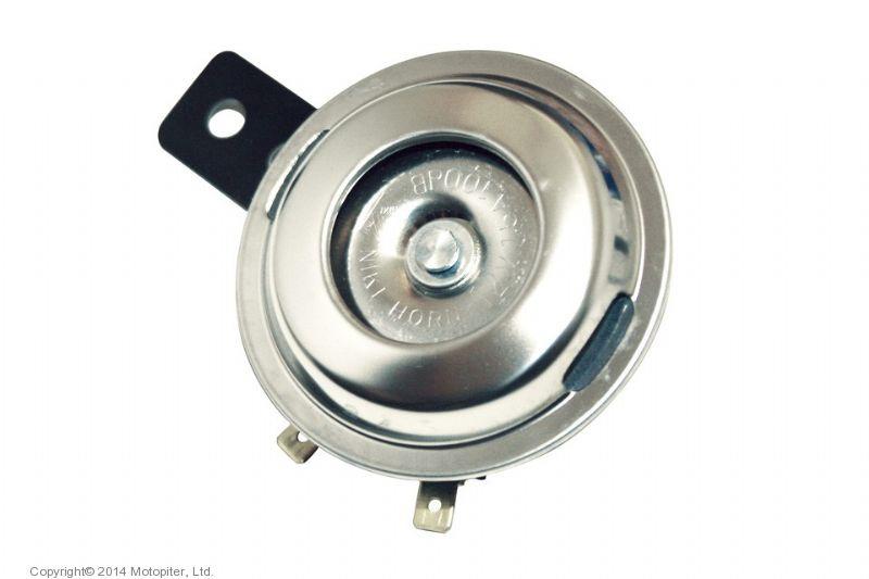 Гудок хром 12V, диаметр 72mm