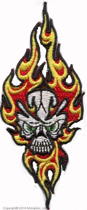 Нашивка Огненный череп