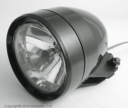 Фара черная 125 мм