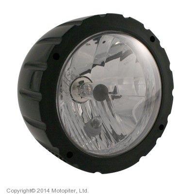 Фара черная с засечками 140 мм
