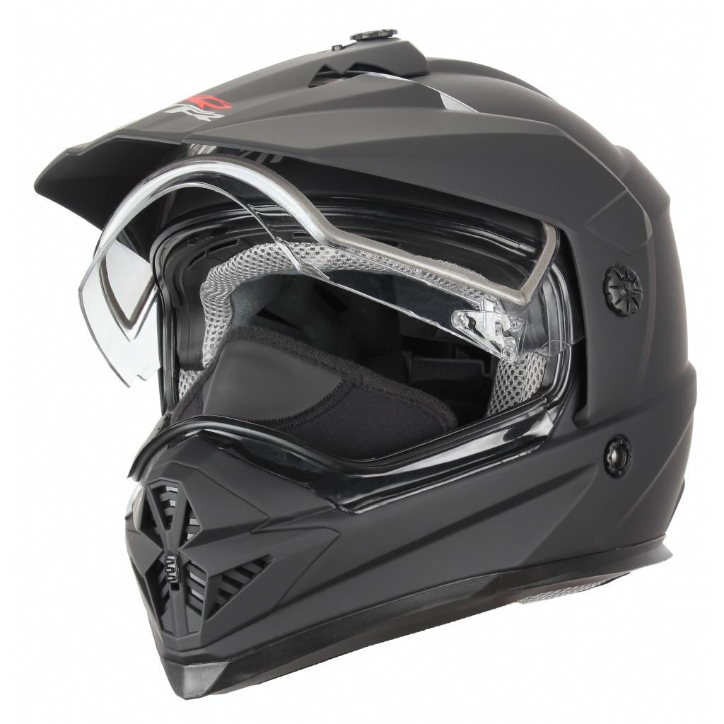 Снегоходный шлем с двойным стеклом DSE1 черный матовый