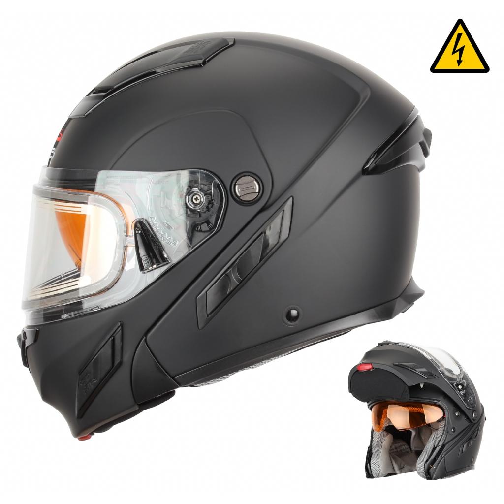 Шлем снегоходный XTR MODE2, стекло с электроподогревом, мат.