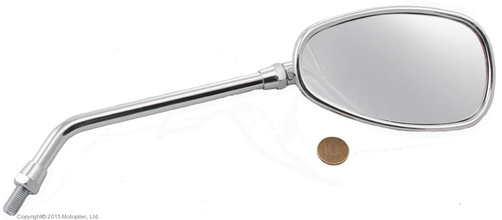 Универсальное хромированное зеркало NAKED BIKE, резьба М10