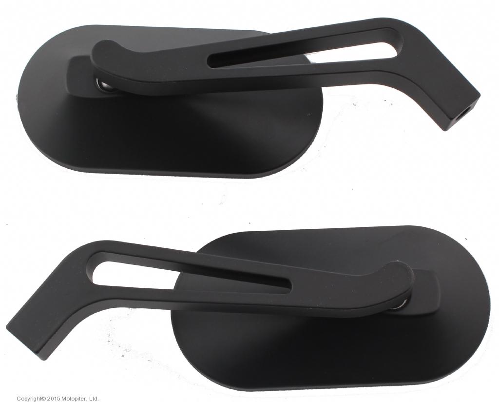 Универсальные зеркала OVAL черные, пара