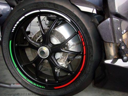 Наклейка на колесный диск GP-Style Триколор