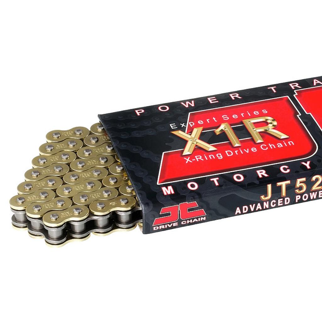 Цепь приводная 525,118 звеньев, сальники XRing (JT 525X1R-GB118)