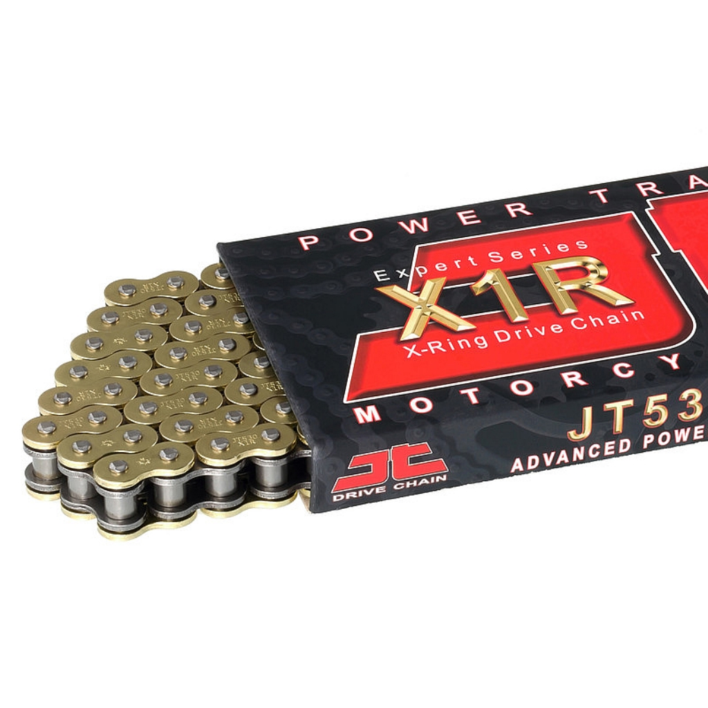 Цепь приводная 530,120 звеньев, сальники XRing (JT 530X1R-GB120)