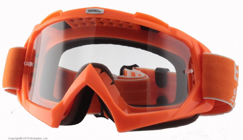 Маска кроссовая B-Flex LAUNCH оранжевая