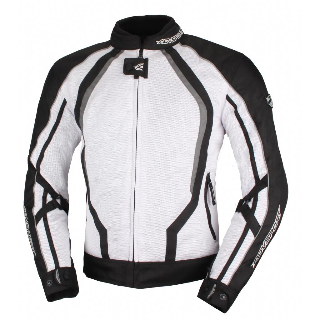 Текстильная куртка Solare II чёрно-белая
