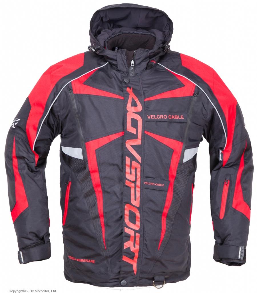 Снегоходная куртка ARCTIC II,черная/красная