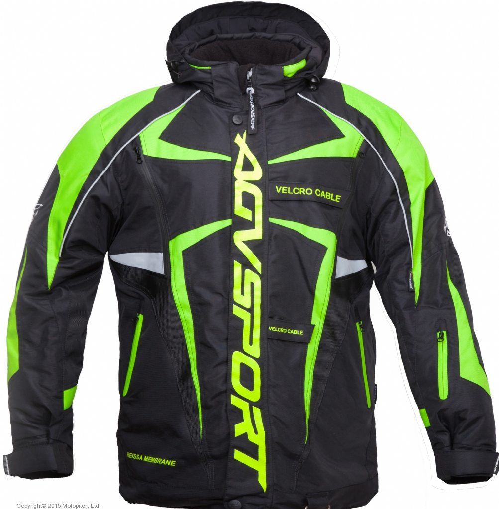 Снегоходная куртка ARCTIC II,черная/желтая