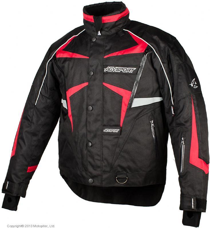 Снегоходная куртка ARCTIC черная/красная
