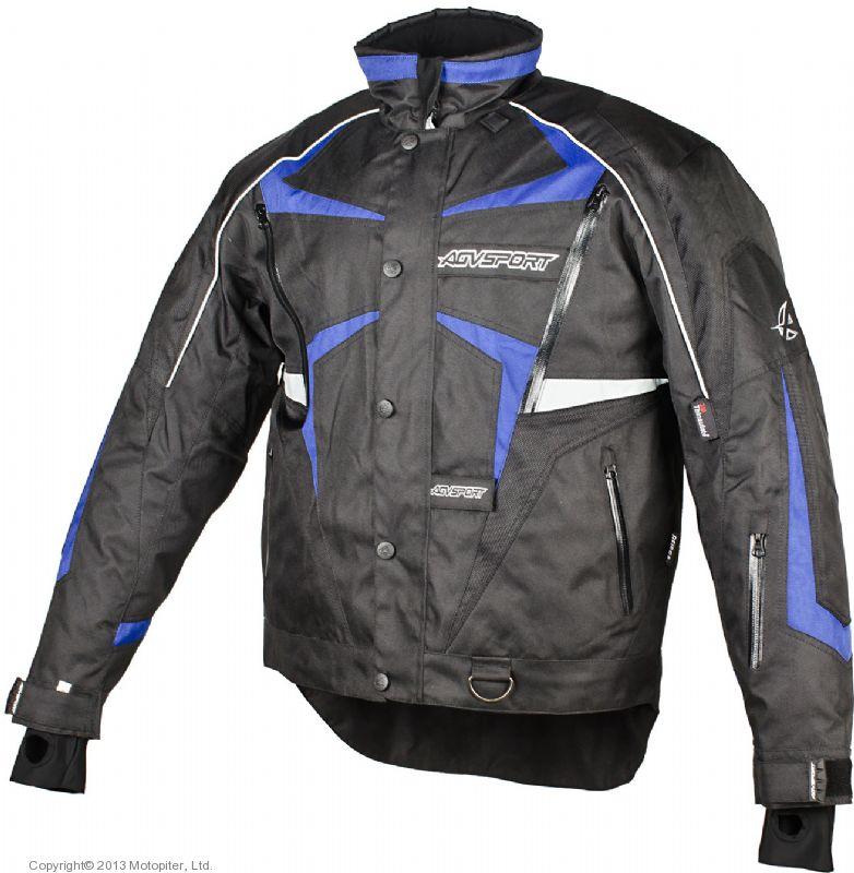 Снегоходная куртка ARCTIC черная/синяя