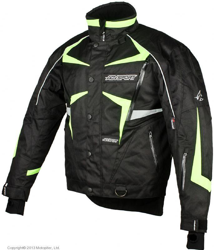 Снегоходная куртка ARCTIC  черная/флуоресцентно желтая