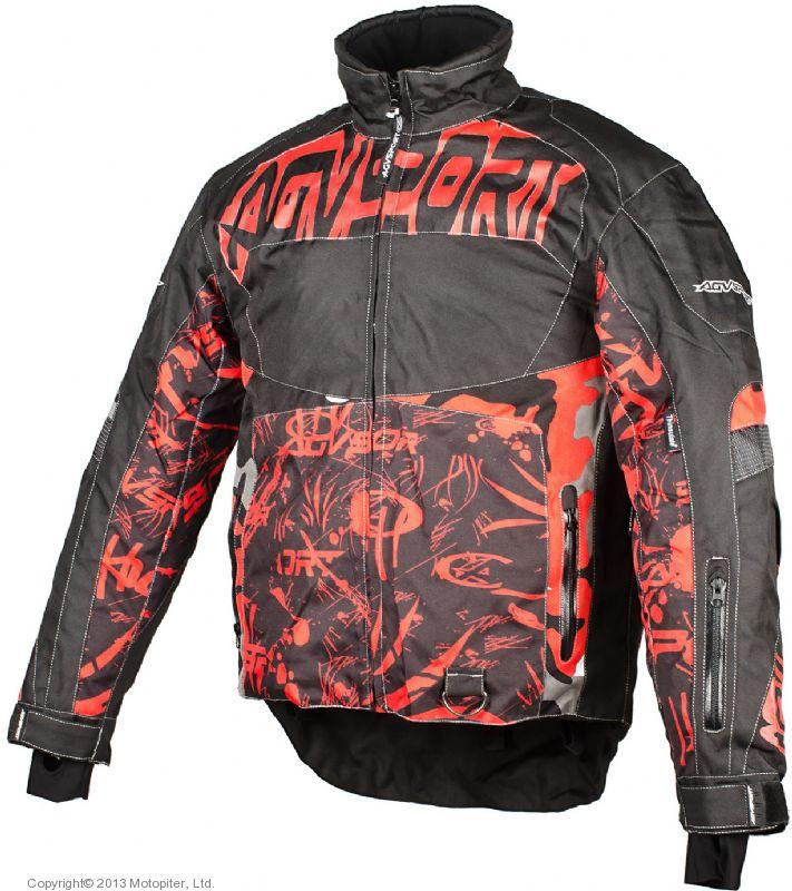 Снегоходная куртка Taiga, черная/красная
