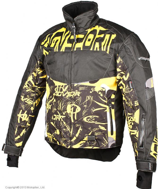 Снегоходная куртка Taiga, черная/желтая