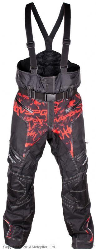 Снегоходные штаны Taiga, черный/красный