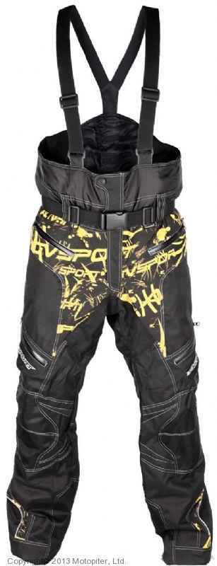 Снегоходные штаны Taiga, черный/желтый