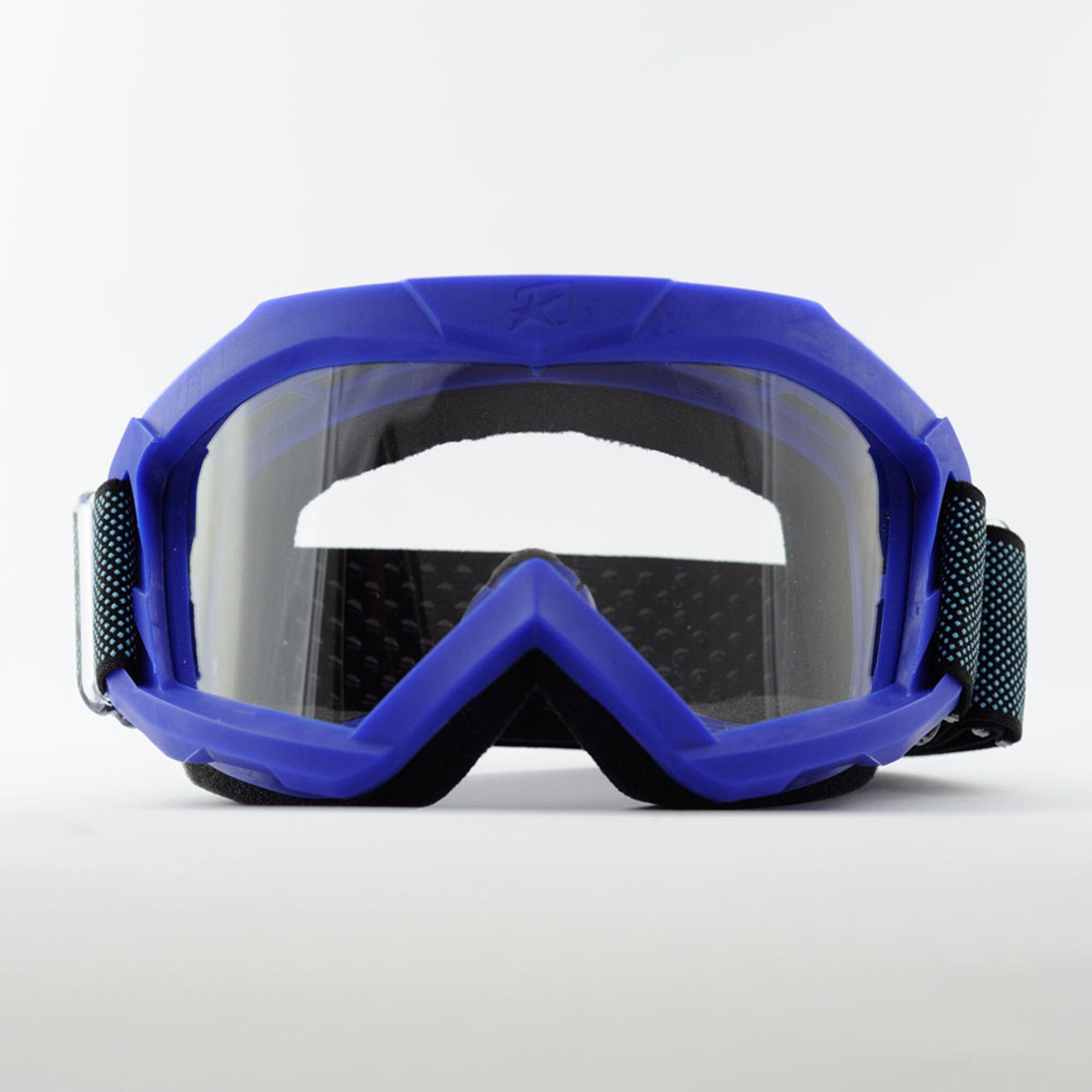 Маска кроссовая Ariete 07 Next Gen 2021, синий, прозрачная линзы