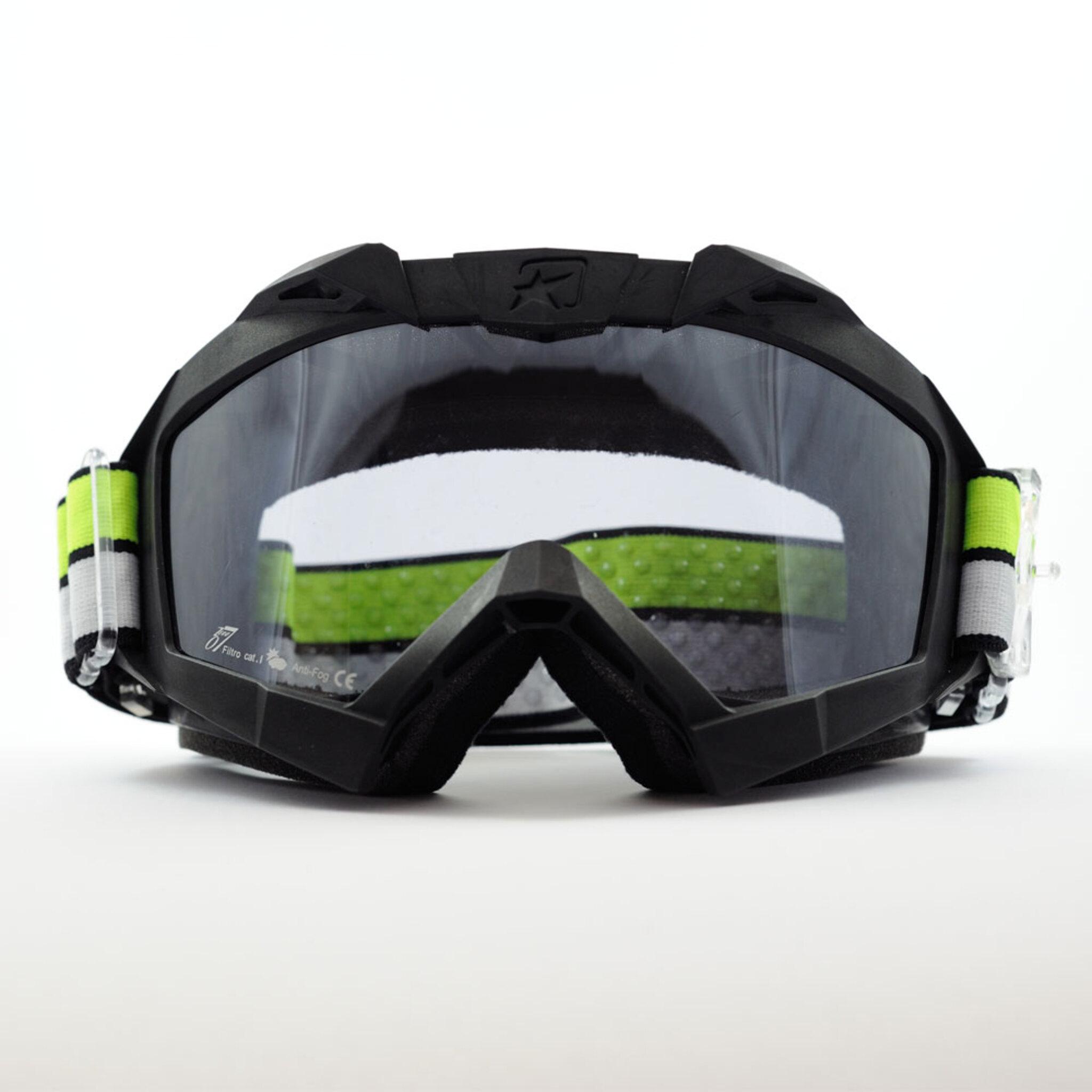 Маска кроссовая Ariete Adrenaline Primis Plus 2021, черный, прозрачная линзы