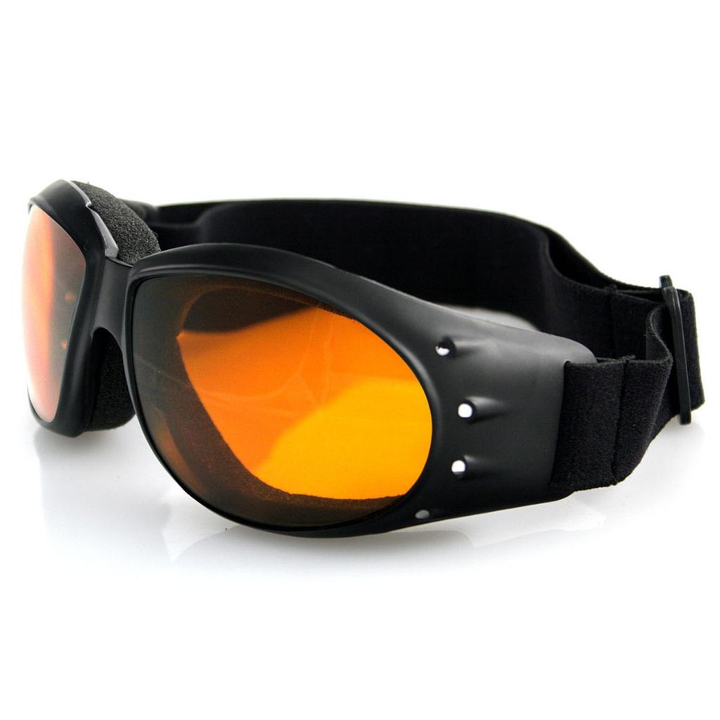 Очки Cruiser чёрные с янтарными линзами ANTIFOG