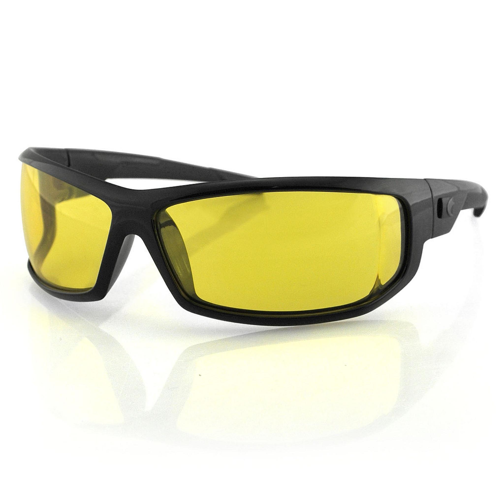 Очки AXL чёрные с жёлтыми линзами ANTIFOG
