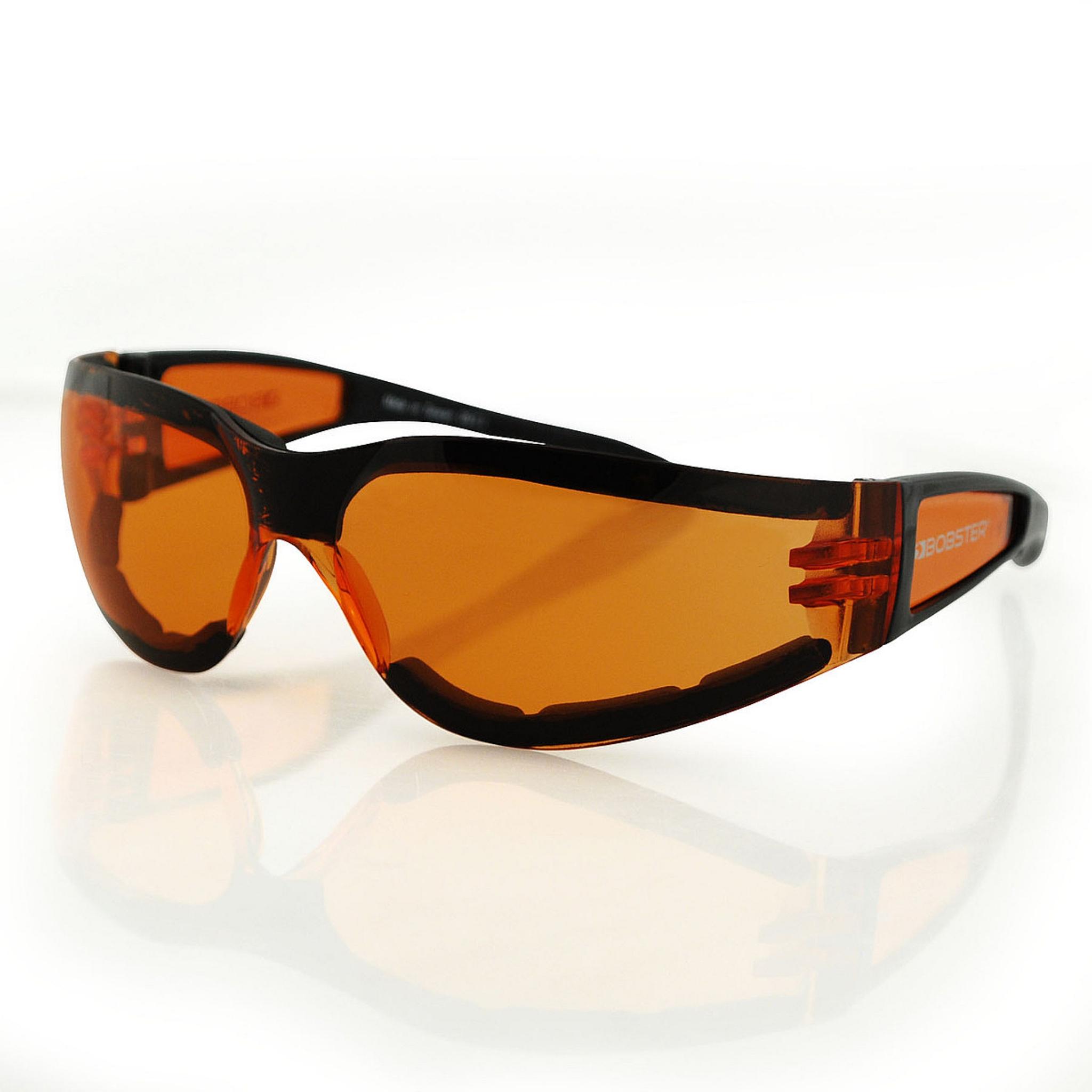 Очки Shield II чёрные с янтарными линзами