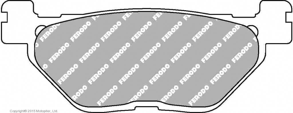 Тормозные колодки FDB2126