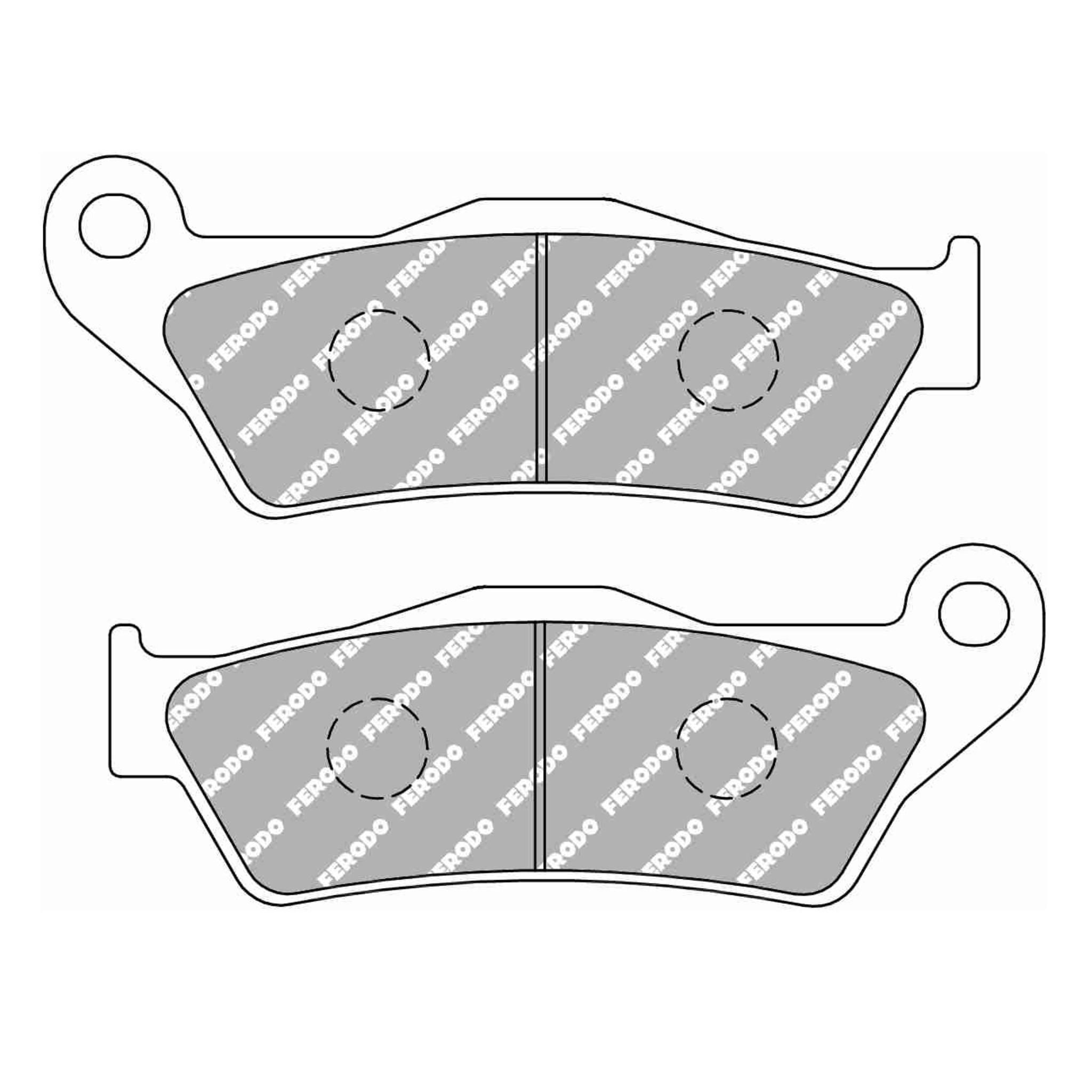 Тормозные колодки дисковые, FERODO(FDB2039ST)