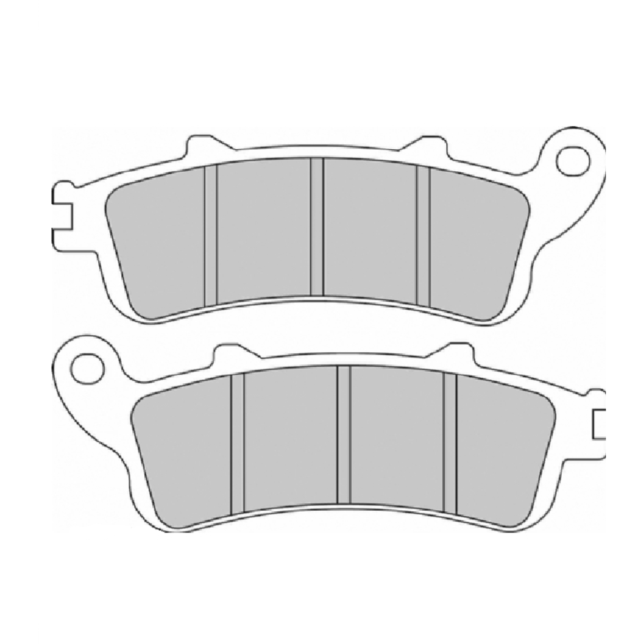 Тормозные колодки дисковые, FERODO(FDB2075ST)