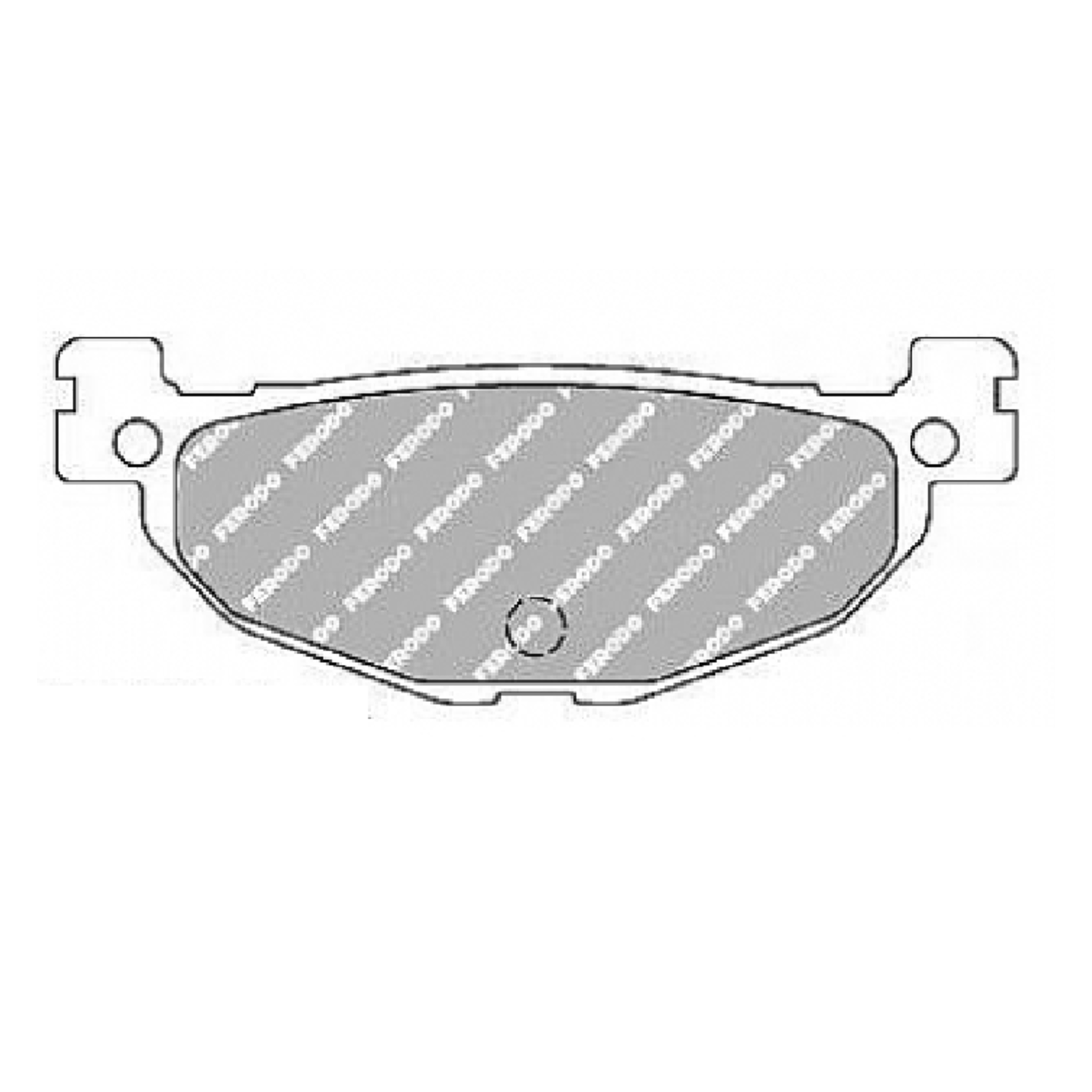 Тормозные колодки дисковые, FERODO(FDB2200P)