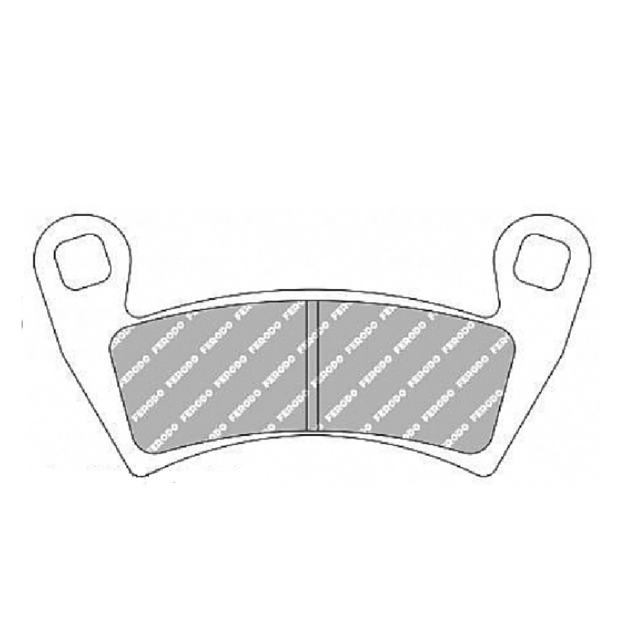 Тормозные колодки дисковые, FERODO(FDB2263SG)
