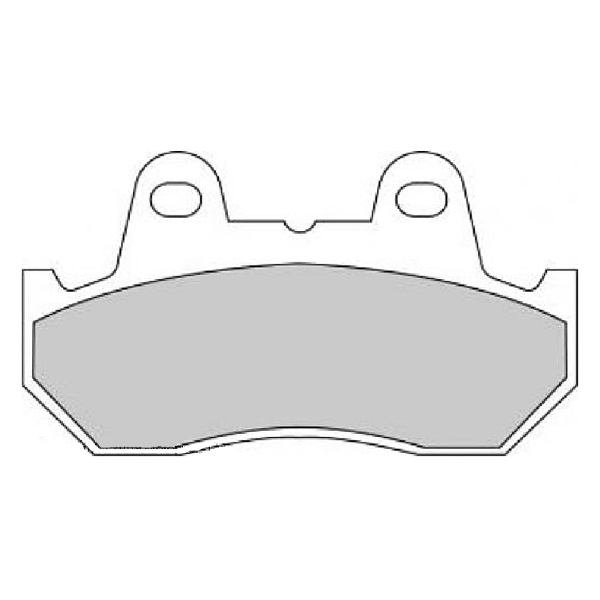 Тормозные колодки дисковые, FERODO(FDB244P)