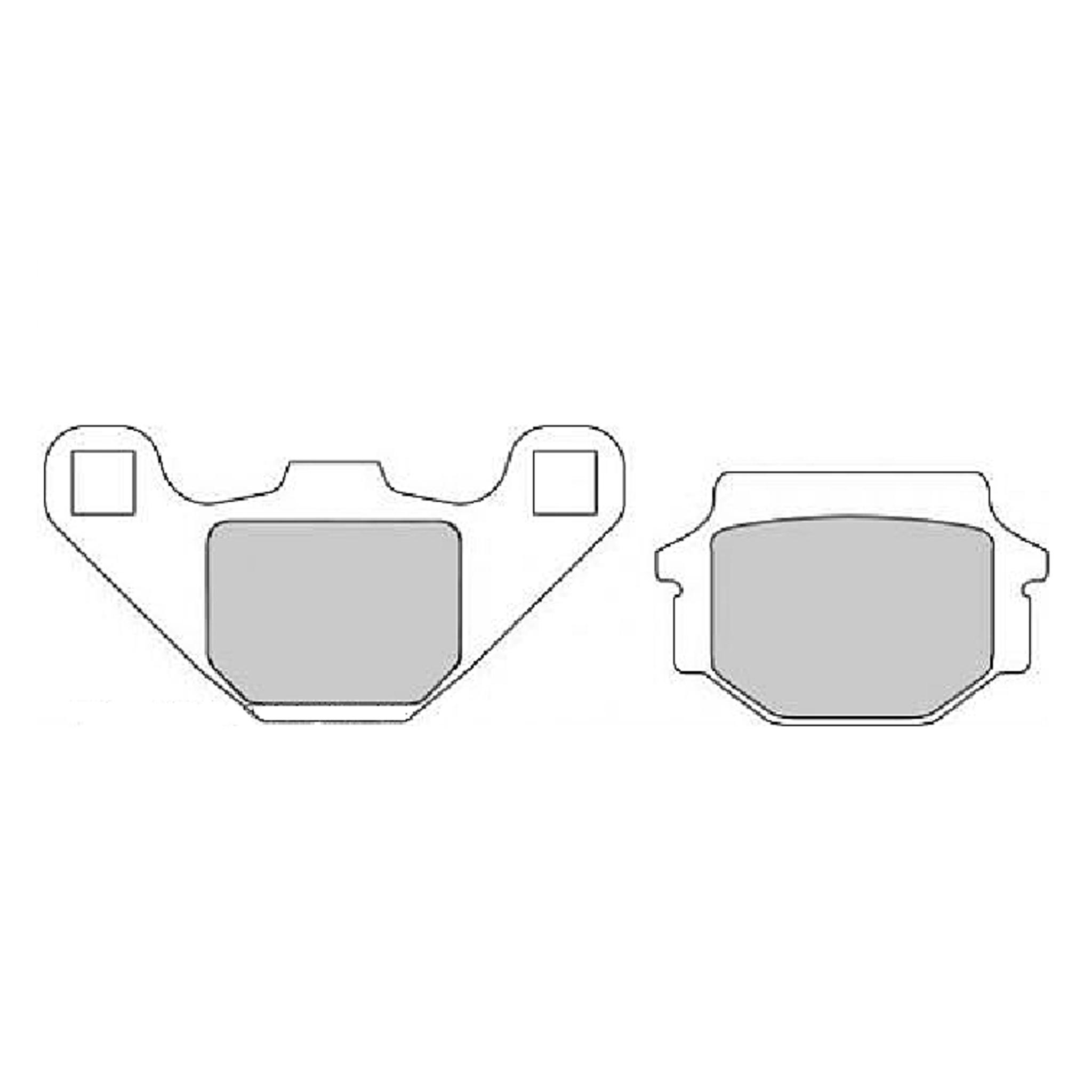 Тормозные колодки дисковые, FERODO(FDB314SG)