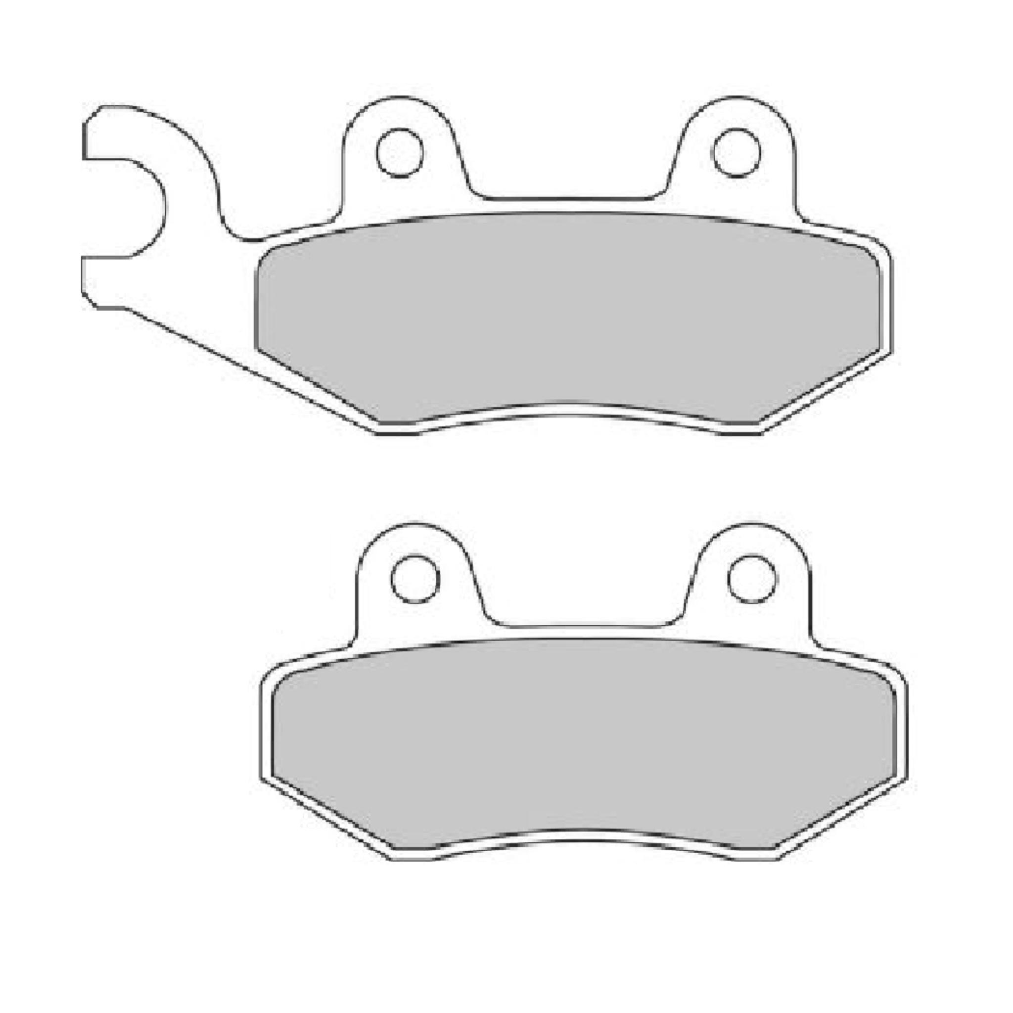 Тормозные колодки дисковые, FERODO(FDB497EF)