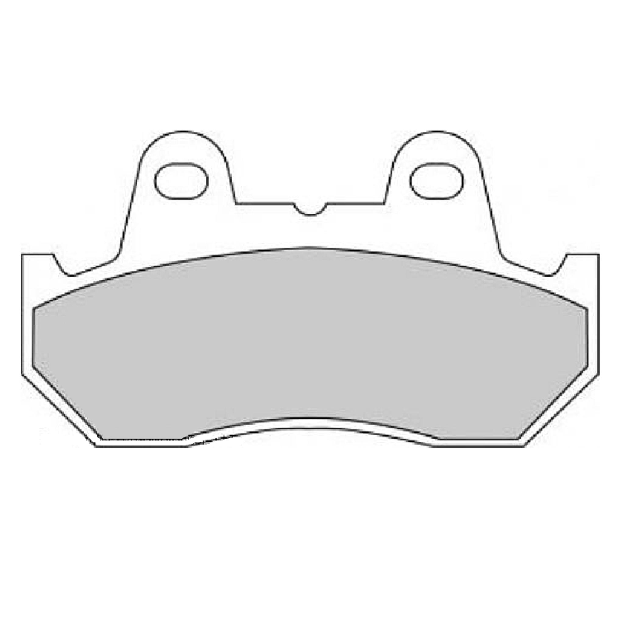 Тормозные колодки дисковые, FERODO(FDB538P)