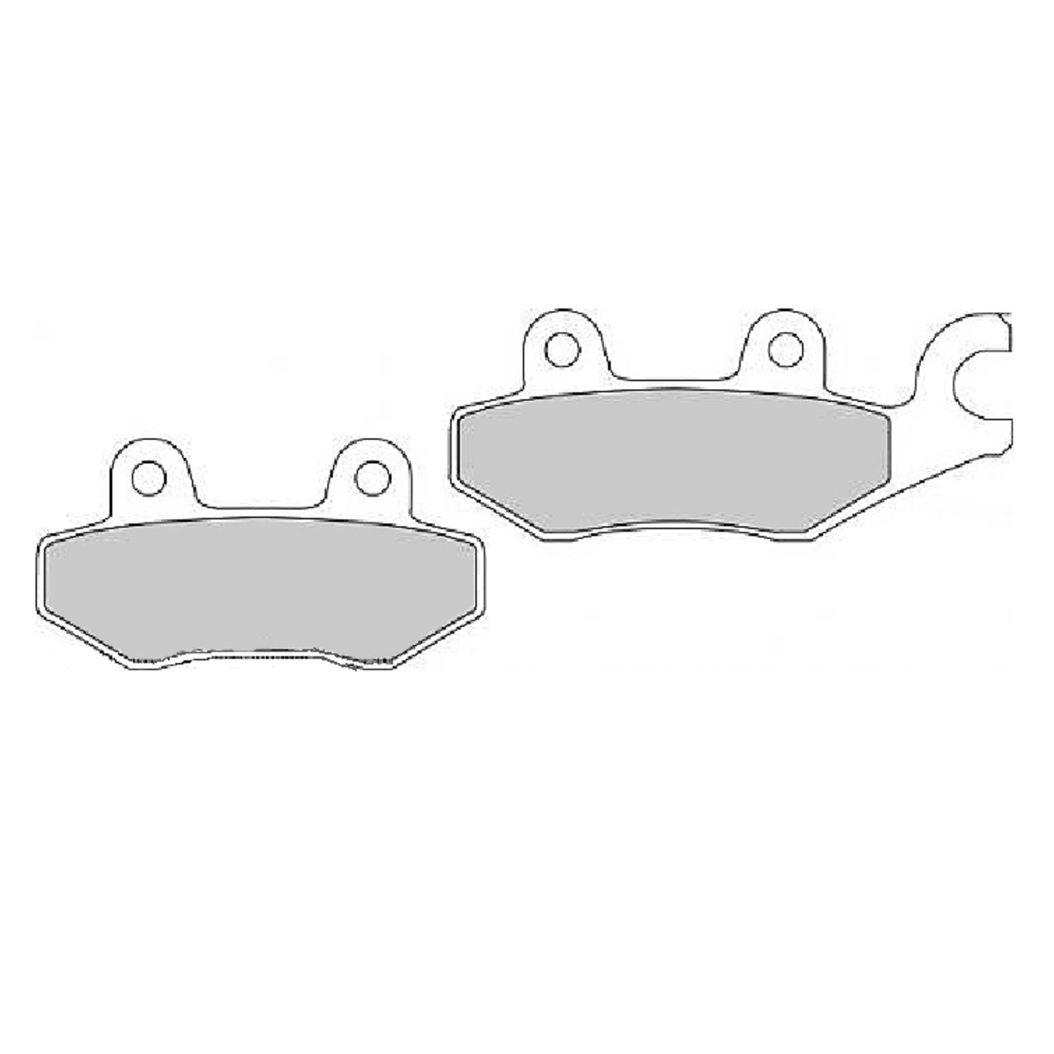 Тормозные колодки дисковые, FERODO(FDB631ST)