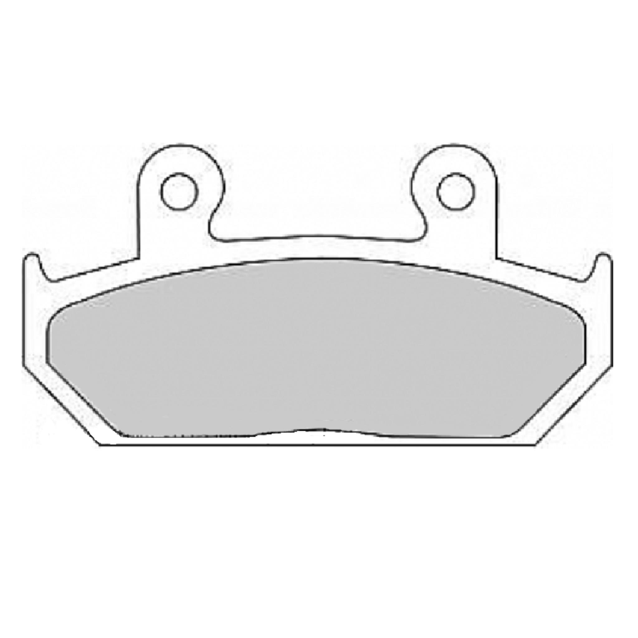 Тормозные колодки дисковые, FERODO(FDB663P)