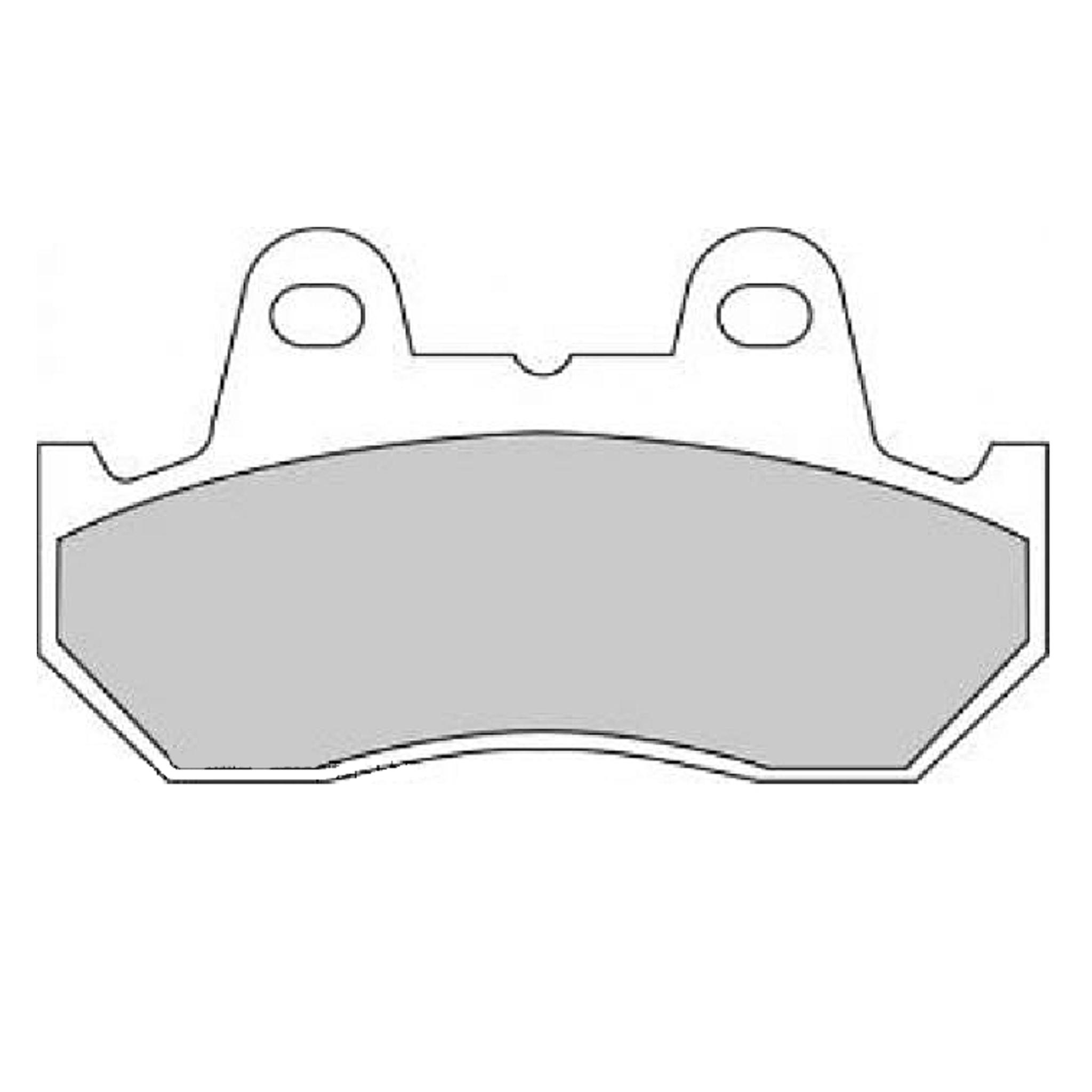 Тормозные колодки дисковые, FERODO(FDB665ST)