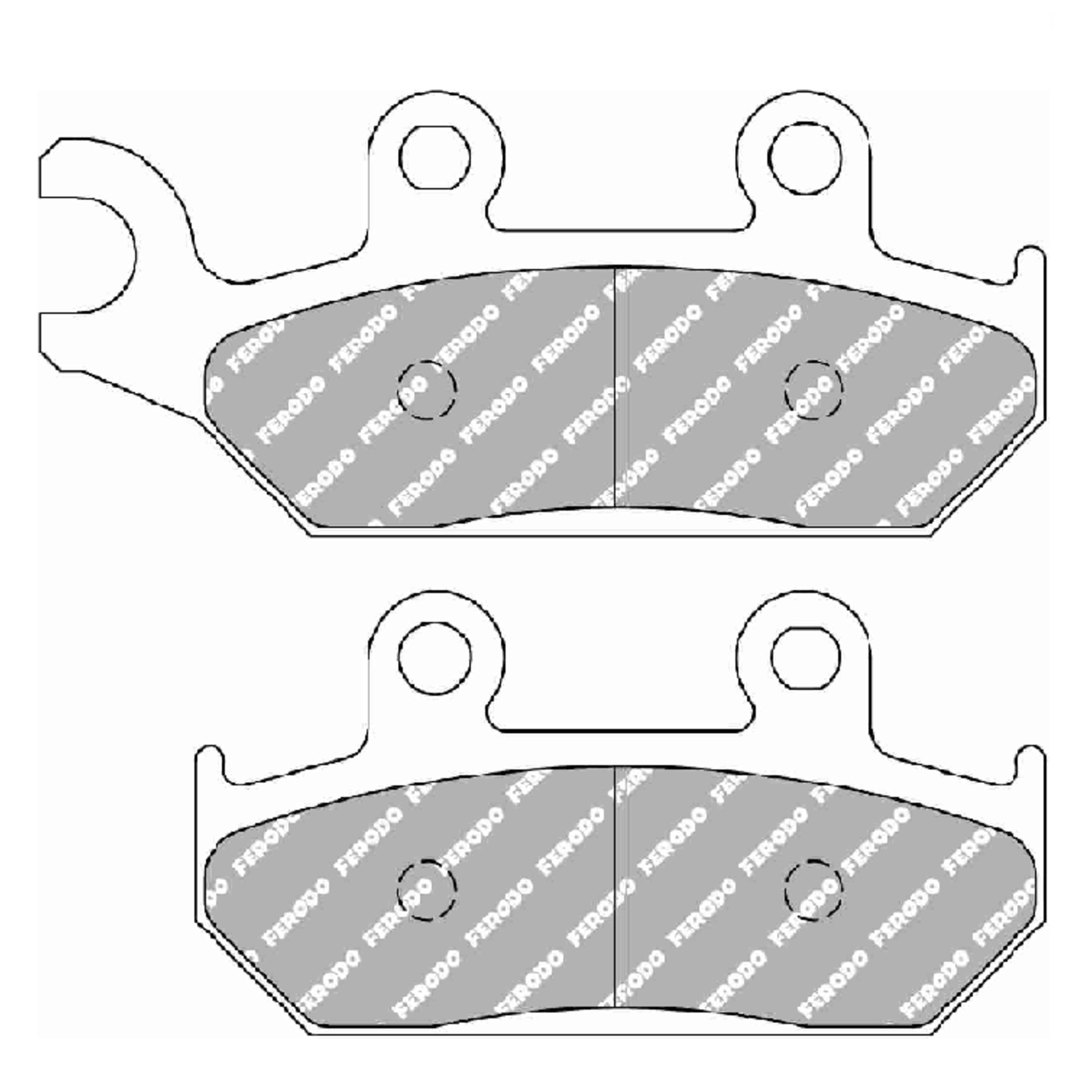 Тормозные колодки дисковые, FERODO(FDB737P)